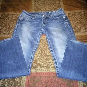 Miss Me Flap Bottom Pockets with Rhinestone